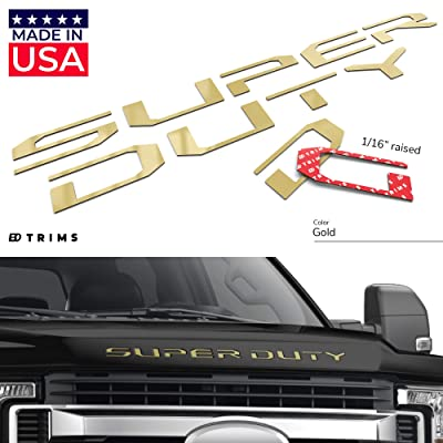 BDTrims Hood Raised Letters Compatible with Super Duty Models 2020-2020 (Gold): Automotive
