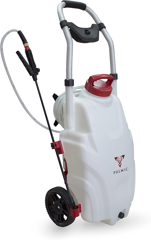 PULMIC Pulverizador Eléctrico Portátil Pegasus 35. Uso Agrícola y Desinfectante. 35L.3 Velocidades de Aplicación. Batería Litio 18V. 7h de Autonomía.