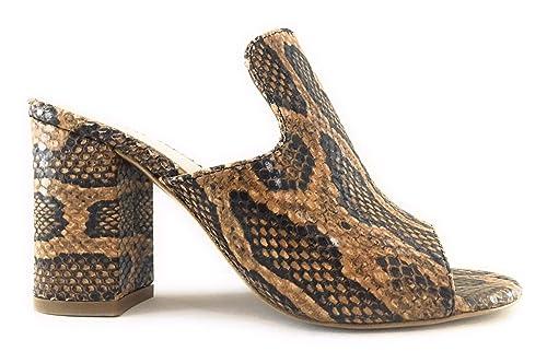 new product 61111 bedea BIANCA DI Sabot Spuntato Pelle Snake: Amazon.it: Scarpe e borse