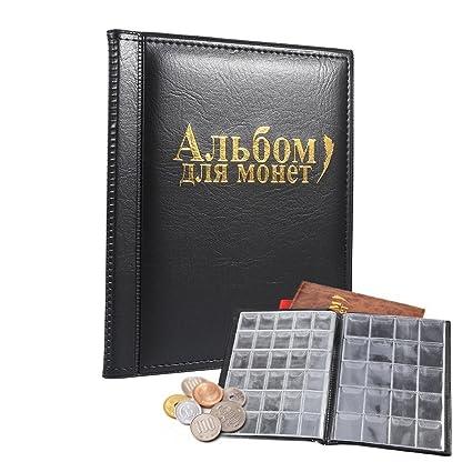 7eef0abe06 Raccoglitore per collezione di monete Album Moneta,250 tasche,nero:  Amazon.it: Casa e cucina