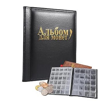 Archivador para colección de monedas: Álbum de monedas, de 250 bolsillos, color negro: Amazon.es: Hogar
