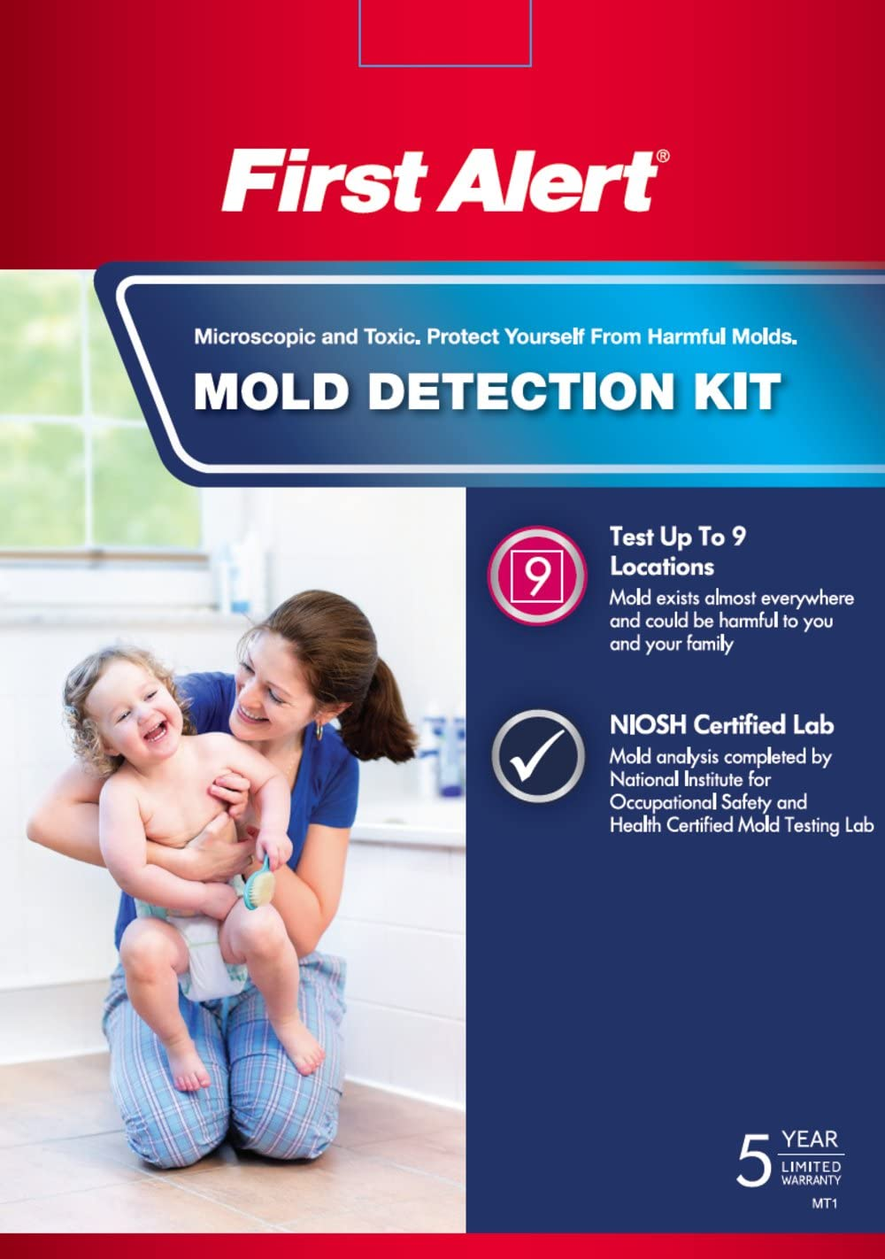 First Alert MT1 Mold Detection Kit - Mold Test Kit -