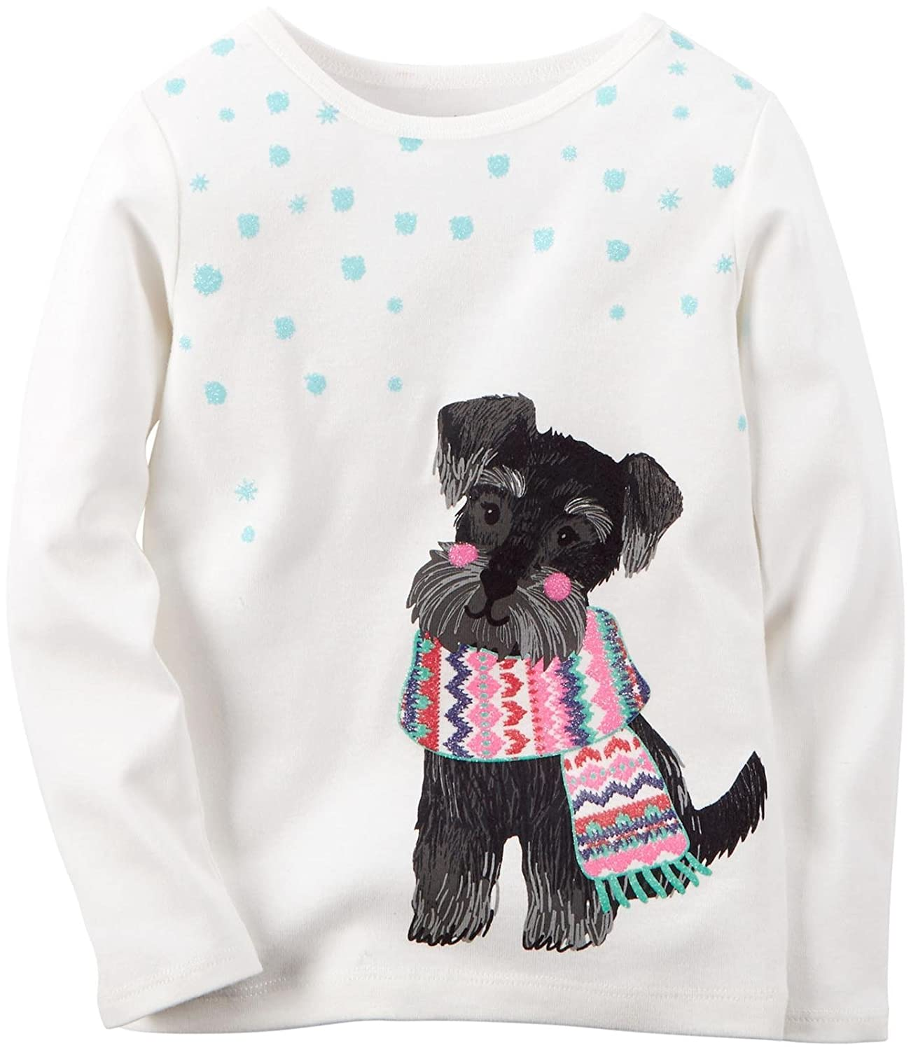 Carters Baby Girls Graphic Top 9 Months Puppy