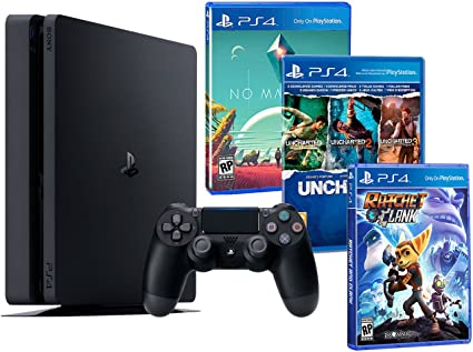 Playstation 4 Consola PS4 Slim 500Gb Pack Familiar + 5 Juegos - Ratchet & Clank + No ManS Sky + Uncharted: The Nathan Drake Collection (3 en 1): Amazon.es: Videojuegos