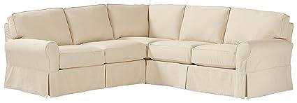 Superbe Stone U0026 Beam Carrigan Modern Slipcover Sectional Sofa, 103u0026quot; ...
