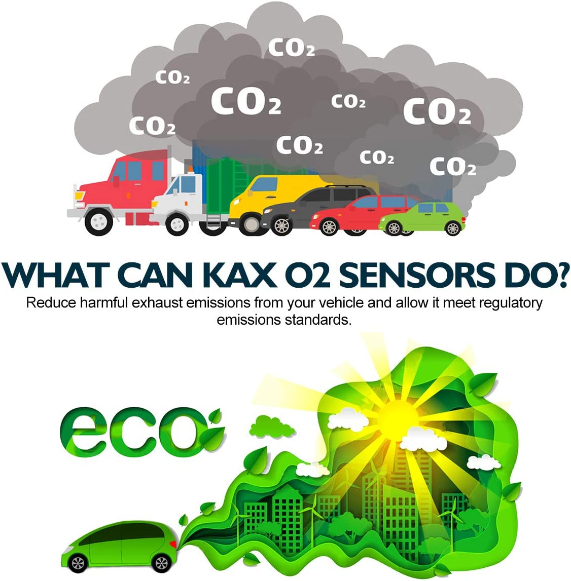 Downstream 250-24121 Heated O2 Sensor Air Fuel Ratio Sensor 1 Sensor 2 Rear Front Original Equipment Replacement 1Pcs KAX 234-4092 Oxygen Sensor