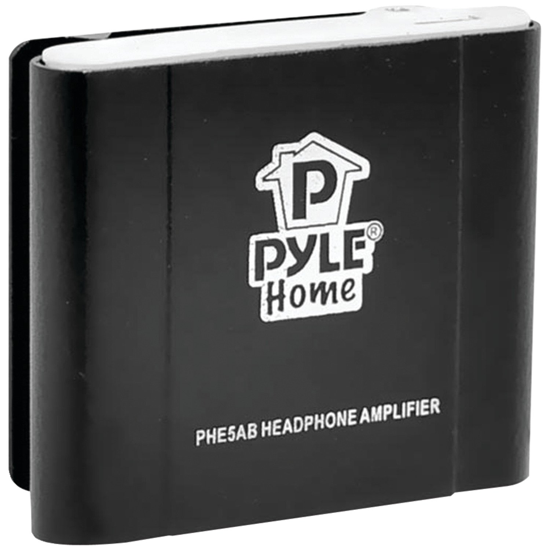 Pyle Home PHE5AB Bass Boost Portable Headphone Amplifier Black Sound Around