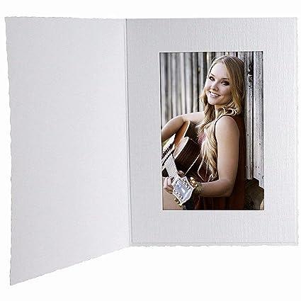 Amazon.com - White Cardboard Portrait Photomount Folder 5x7 Frame w ...