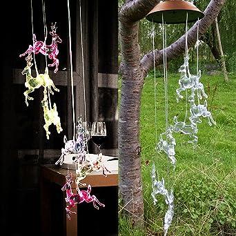 Efanty Balizas Solares Ciervos de Navidad 1 led Multicolor para Exterior, Jardín,Fiesta, Boda, Guirnalda, Decoración del árbol de Navidad: Amazon.es: Iluminación