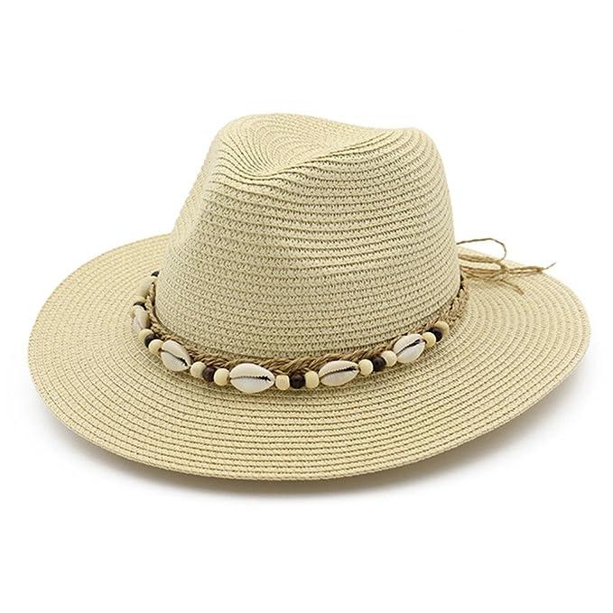 Lisianthus Ladies Summer Shells Fedora Straw Hat Beige at Amazon ... 87c453abd72