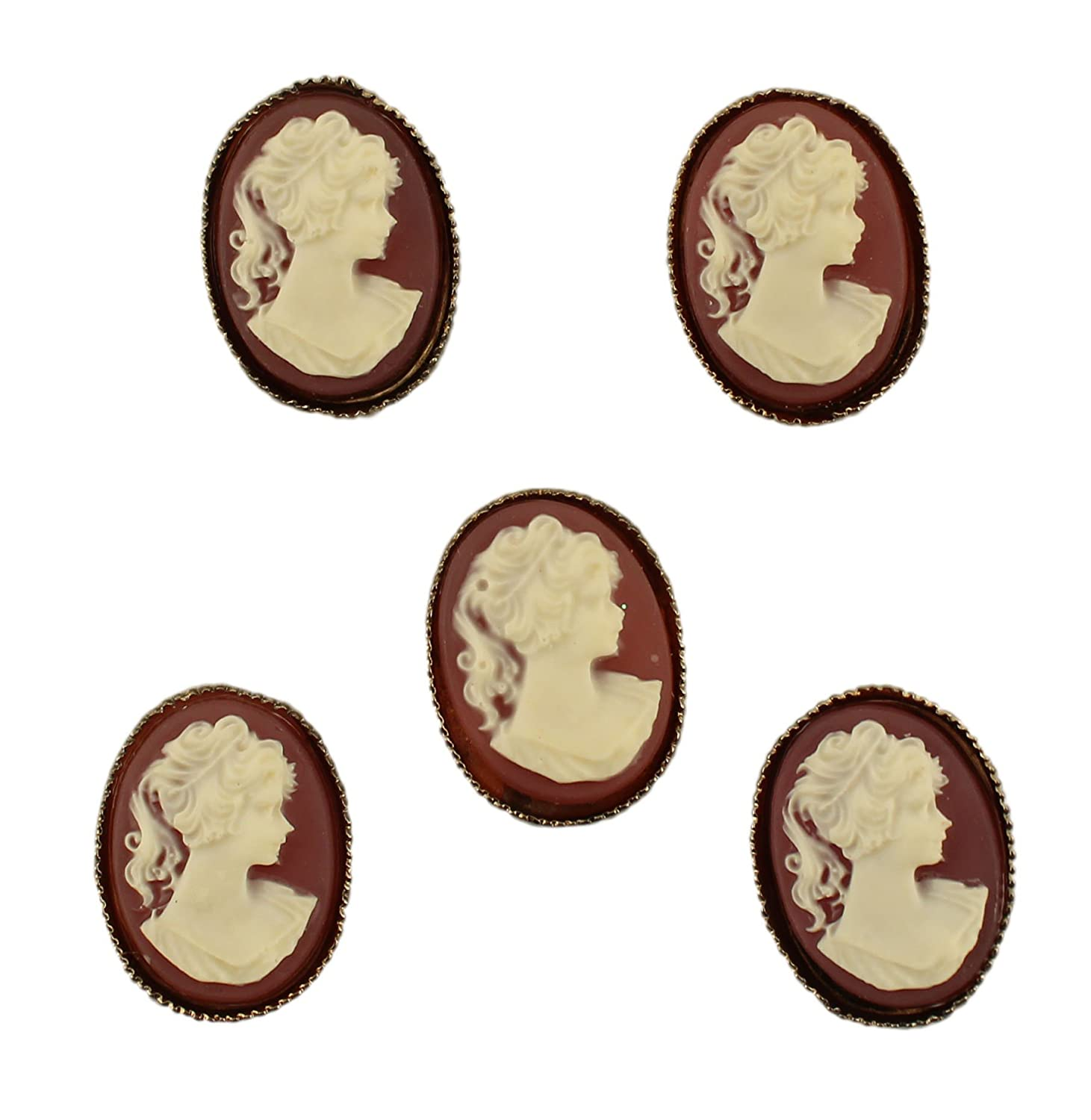 Buttons Galore Victorian Small Cameo Button Pack by Buttons Galore  Small Cameo B00CBTUSLO