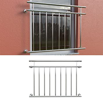 Balkongelander Fenstergitter Franzosischer Balkon Edelstahl 128x90