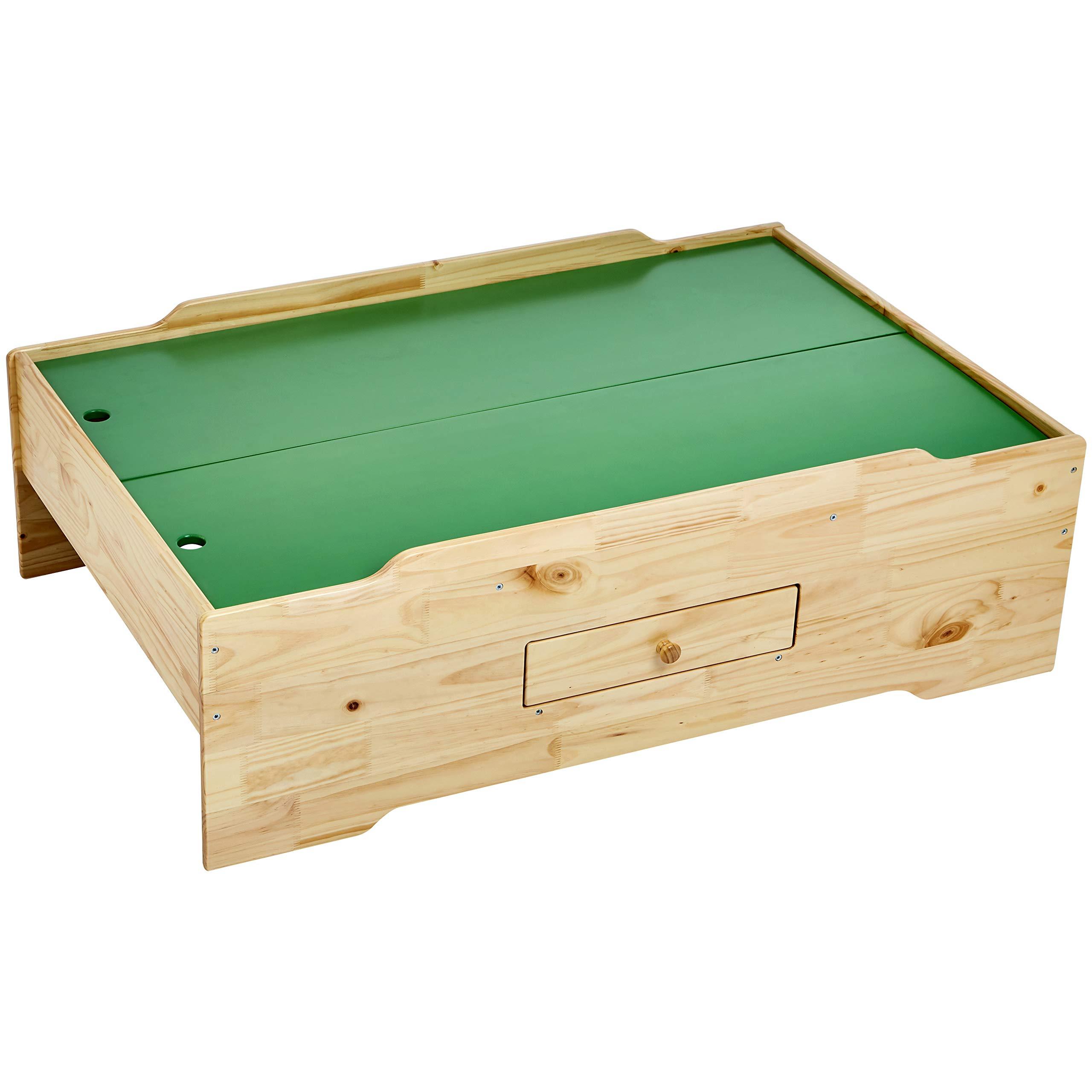 AmazonBasics Wooden Multi-Activity Play Table, Natural