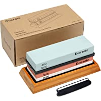 Donxote Knife Sharpening Stone, 400/1000 3000/8000 Double Side Grit Waterstone, Professional Chef Whetstone Sharpener…
