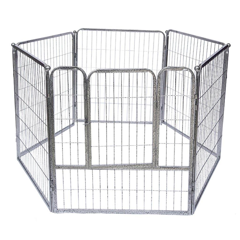 大きな背の高い犬のフェンス、ドア、金属6パネルペットヘビーデューティーアクティビティセンターPlayard (色 : シルバー しるば゜)  シルバー しるば゜ B07FCPDKN3