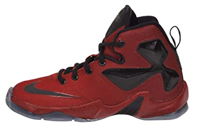 d96a9650e4233 Nike Youth s Lebron XIII PS Red Black Basketball Shoes 808710 606 Red 11 M  US