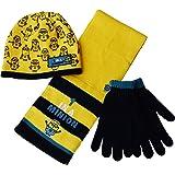 Childrens - Minions 3pc HSG Hat Scarf Glove Set