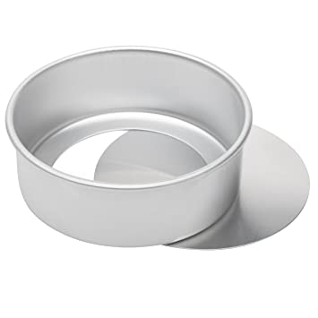 Image Unavailable Image Not Available For Color Ateco Aluminum Cake Pan With Removable Bottom Round