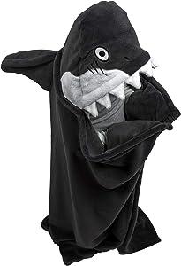 Lazy One Animal Blanket Hoodie for Kids, Hooded Blanket, Wearable Blanket (Shark)