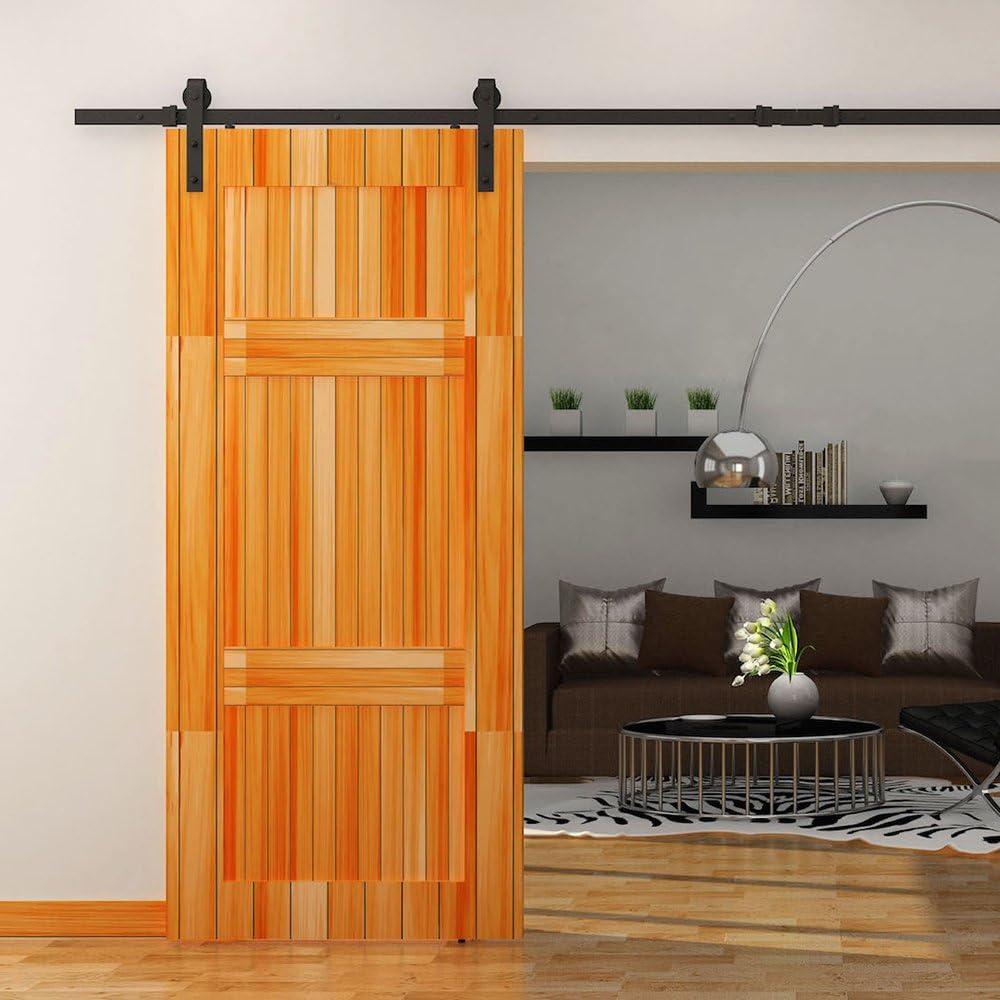 outera puerta corrediza de granero madera Hardware Set deslizante pista Kit de Hardware: Amazon.es: Bricolaje y herramientas