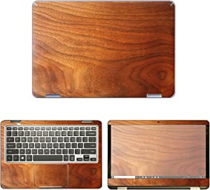 decalrus - Protective Decal Wood Skin Sticker for Samsung Notebook 7 Spin NP730QAA (13.3