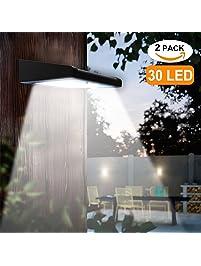 2 Pack 30 LED Solar Lights Outdoor, Avaspot【Upgraded Version】Solar Powered  Security
