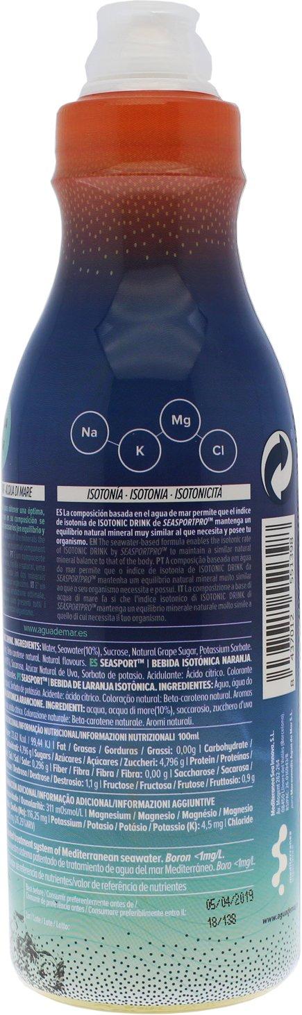 Seasport Pro Bebida isotónica deportiva con agua de mar, envase 500 ml, sabor limón natural, ayuda en la actividad deportiva, con sodio, potasio, magnesio y ...