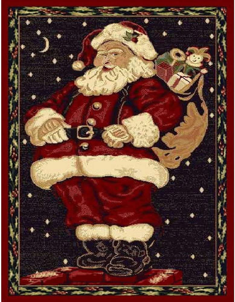 Christmas Rug Holiday Décor Santa Claus Area Rug 3ft4in X 4ft6in Amazon Ca Home Kitchen
