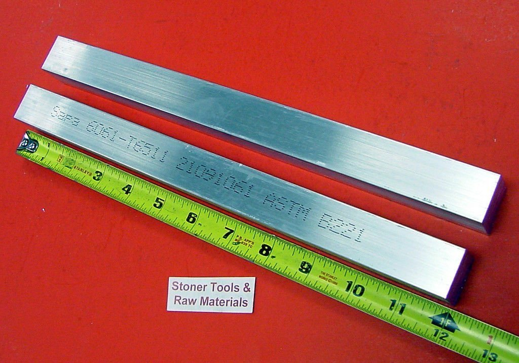 """5 Pieces 3//4/""""x 1-1//2/"""" 6061 ALUMINUM Extruded Bar 12/"""" long T6511 Solid Mill Stock"""
