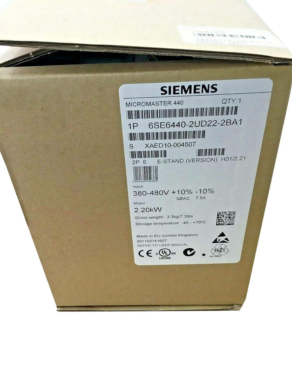 Inverter 6SE6440-2UD22-2BA1 MICROMASTER 440 2.2kW Frequency Converter 6SE6 440-2UD22-2BA1