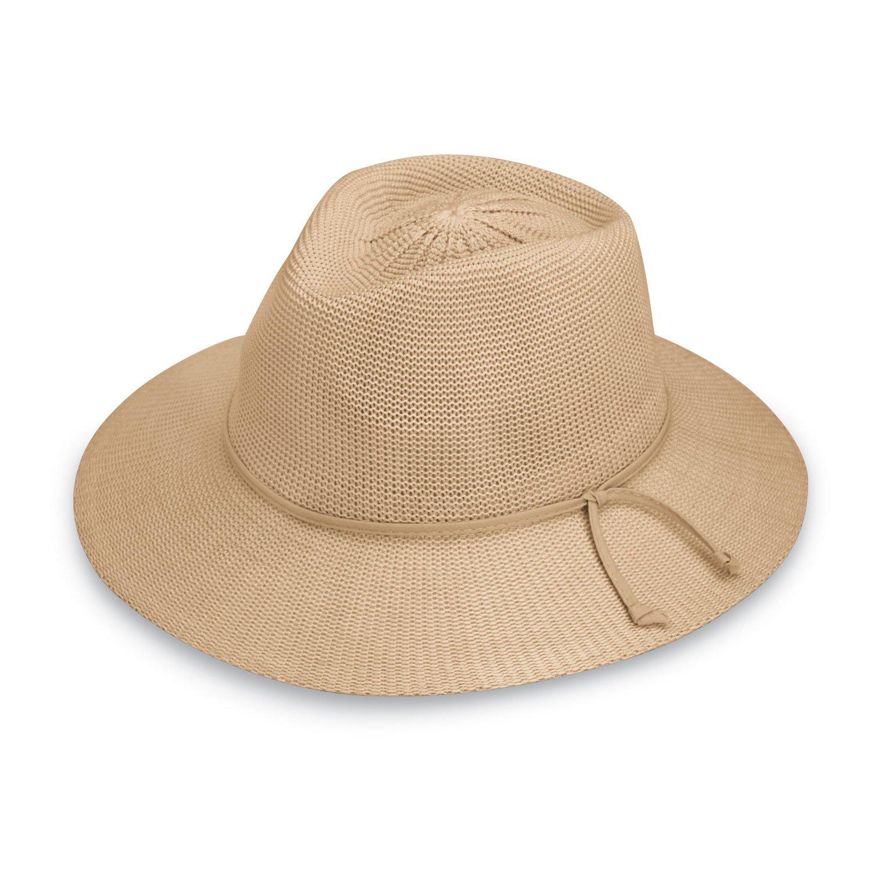 Wallaroo Hat Company Women's Victoria Fedora Sun Hat - 100% Poly-Straw - UPF50+ VICF-20-BK