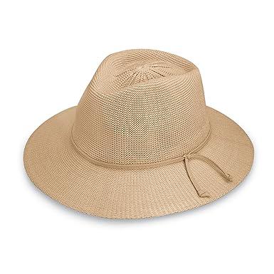 Wallaroo Damen UV Victoria Fedora Hut UPF50 Sonnenschutz Verstellbar /& Verpackbar