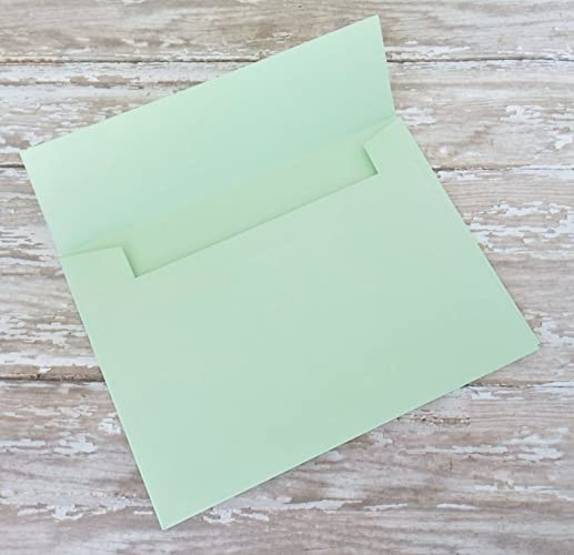 Amazon.com: Mint Green Envelopes for Invitations or Cards-4x6(A6 ...