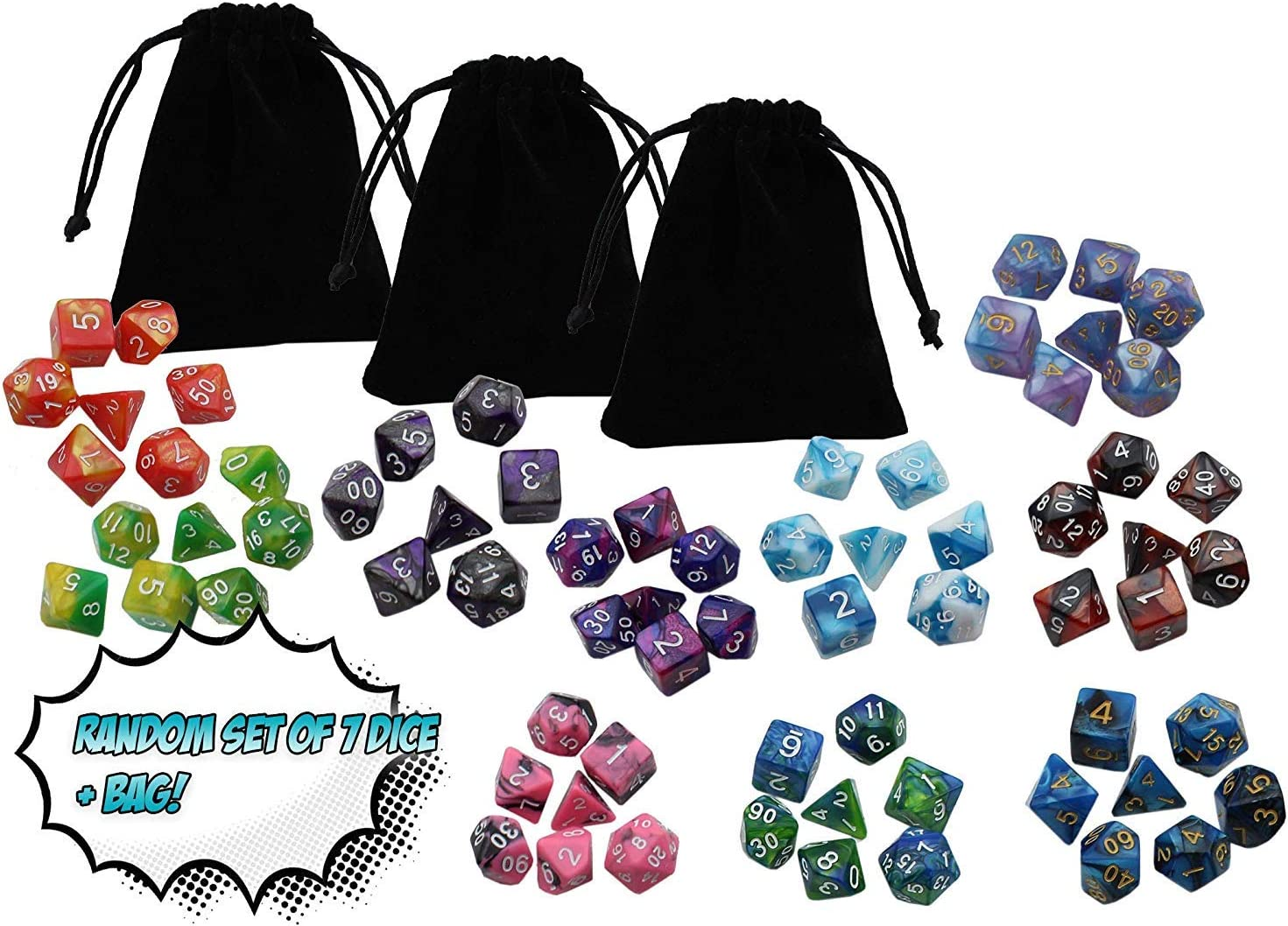 D/&D Tabletop Roleplaying Game Adventure Boxed Set Rick /& Morty Dungeons and Dragons Vs with 4 Random Set of 7 Dice Bundle by Golden Groundhog!