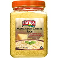 Iberia Manchego Cheese Rice, 1.62 lb. Seasoned and Ready to Cook Rice, No MSG