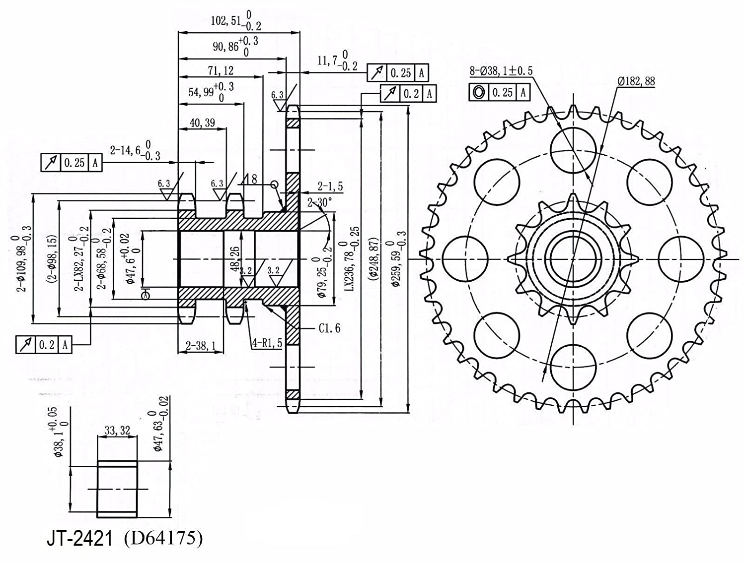 D76529 Chain Drive Sprocket for Case-IH Skid Steer Loader 1845C:  Amazon.com: Industrial & Scientific
