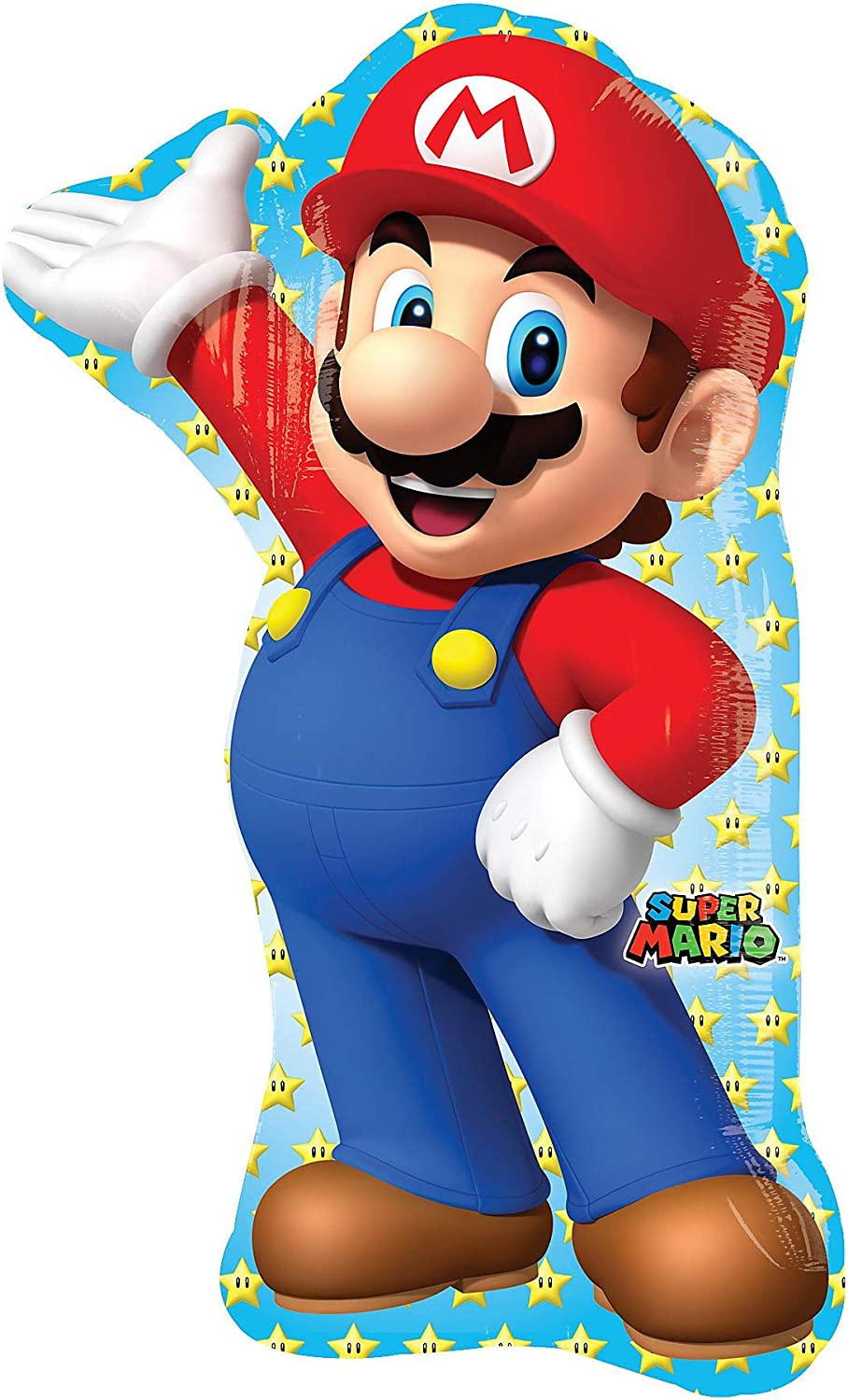 Amazon.com: Anagram 33 en. Mario Bros Shape Foil Balloon ...