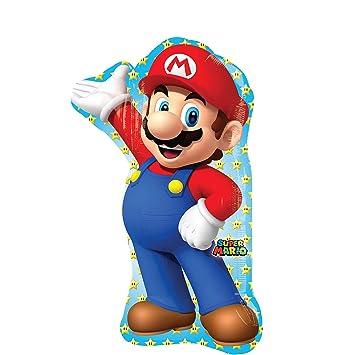 Amscan – 3201001, juego de decoración Super Mario Super forma, dimensiones: 22 x 83,8 cm
