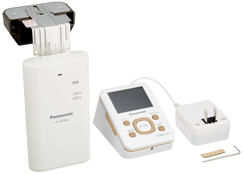 Panasonic ワイヤレスドアモニター ドアモニ モカ ワイヤレスドアカメラ+モニター親機 各1台セット VL-SDM110-T B00HZD5LWW モカ モカ