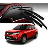 Autopearl Car Side Window Visor for Maruti Suzuki Brezza (Set of 4)