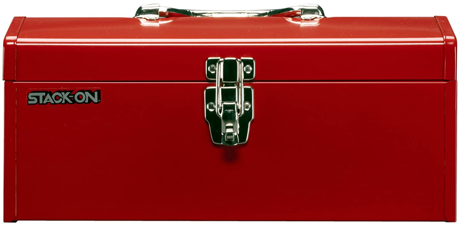 Stack-On R-516-2 16-Inch Multi-Purpose Steel Tool Box, Red - Tool ...