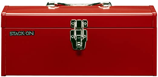 Stack-On R-516-2 16-Inch Multi-Purpose Steel Tool Box, Red