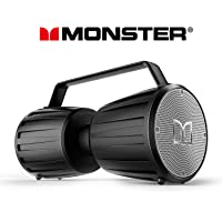 Monster Adventurer Force IPX7 Waterproof Bluetooth Speakers with 5.0 Wireless Pairing & 40W Amplifier (Black)