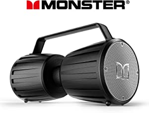 Monster Bluetooth Speaker, Adventurer Force IPX7 Waterproof Bluetooth Speaker 5.0 with Microphone Input for Karaoke, 40W Portable Bluetooth Speakers with 40H Playtime for Indoor Outdoor Party, Black