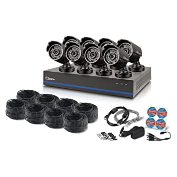 Amazon.com : Swann 8 Channel 1080p TVI DVR Security System with 8 ...