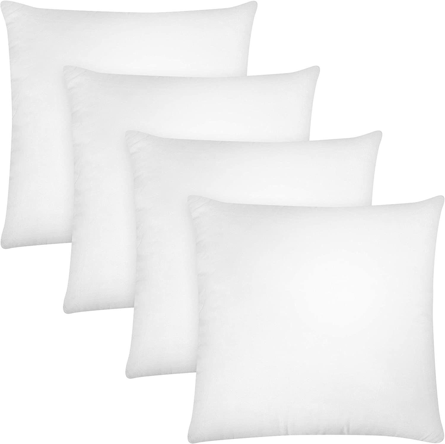 Indoor Decorative Pillows Utopia Bedding Throw Pillows Insert - 12 x 12 Inches Bed and Couch Pillows Pack of 4, White