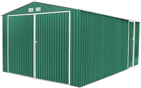 Gardiun Oxford Garaje metálico, Verde, 540 x 380 x 232 cm: Amazon.es: Jardín