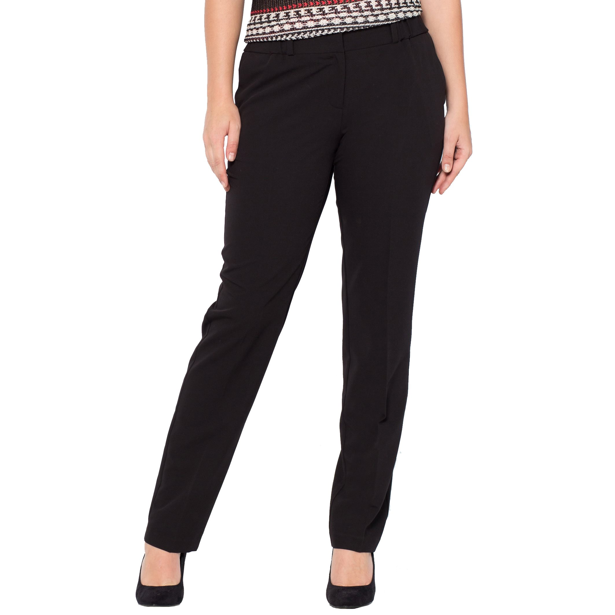 La Redoute Castaluna Womens Peg Trousers with Elasticated Waist Black Size US 18 - FR 48