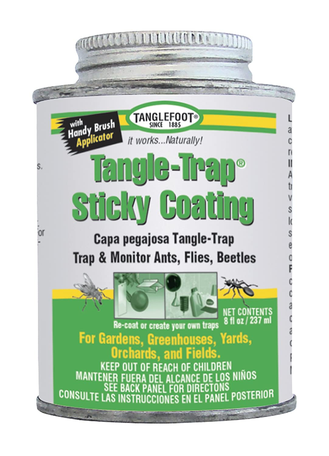 Tanglefoot Tangle-Trap Sticky Coating Can with Brush Cap 8 OZ