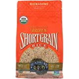 Lundberg Family Farms - Organic Brown Short Grain Rice, Subtle Nutty Aroma, Clings When Cooked, 100% Whole Grain, High Fiber,